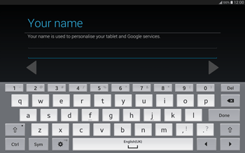 Samsung T805 Galaxy Tab S - Applications - Setting up the application store - Step 7