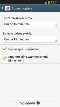 Samsung N9005 Galaxy Note III LTE - E-mail - Account instellen (IMAP zonder SMTP-verificatie) - Stap 16