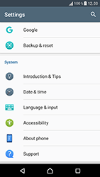 Sony Xperia XZ (F8331) - Device - Factory reset - Step 5