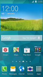 Samsung Galaxy S 5 - Getting started - Installing widgets and applications on your start screen - Step 10