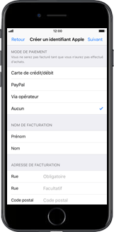 Apple iPhone 7 iOS 11 - Applications - Créer un compte - Étape 15