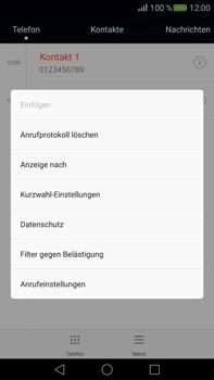 Huawei Mate S - Anrufe - Anrufe blockieren - 4 / 12