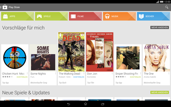 Sony Xperia Tablet Z2 LTE - Apps - Einrichten des App Stores - Schritt 23