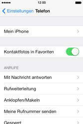 Apple iPhone 4 S mit iOS 7 - Anrufe - Rufumleitungen setzen und löschen - Schritt 4