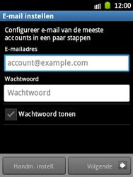Samsung S5300 Galaxy Pocket - E-mail - handmatig instellen - Stap 5