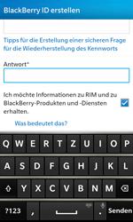 BlackBerry Z10 - Apps - Konto anlegen und einrichten - Schritt 13