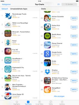 Apple iPad Air iOS 8 - Apps - Einrichten des App Stores - Schritt 4