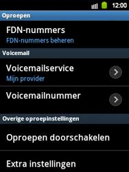 Samsung S5360 Galaxy Y - Voicemail - handmatig instellen - Stap 7