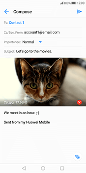 Huawei Mate 10 Pro - E-mail - Sending emails - Step 15