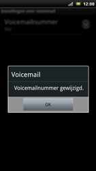 Sony Xperia Arc - Voicemail - Handmatig instellen - Stap 8