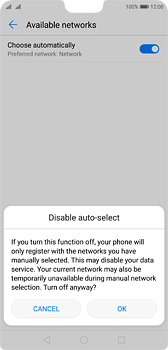 Huawei P20 - Network - Manual network selection - Step 7