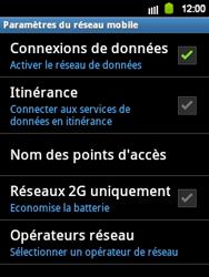 Samsung Galaxy Y - Internet et roaming de données - Désactivation du roaming de données - Étape 7