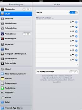 Apple iPad 4 - WLAN - Manuelle Konfiguration - Schritt 5