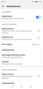 Huawei P20 - Android Pie - Internet und Datenroaming - Prüfen, ob Datenkonnektivität aktiviert ist - Schritt 6