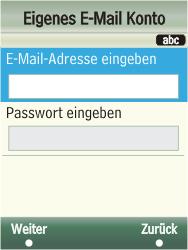 Samsung F480-TouchWiz - E-Mail - Konto einrichten - Schritt 10