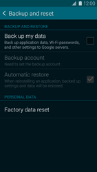 Samsung G900F Galaxy S5 - Device - Factory reset - Step 6