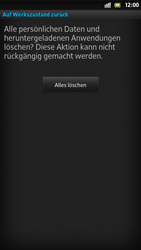 Sony Xperia S - Fehlerbehebung - Handy zurücksetzen - Schritt 9