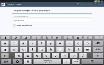 Samsung Galaxy Tab 3 10-1 LTE - E-mail - configuration manuelle - Étape 5