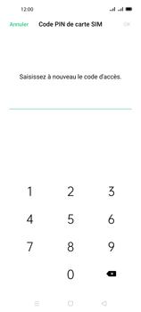 Oppo A72 - Sécuriser votre mobile - Personnaliser le code PIN de votre carte SIM - Étape 12