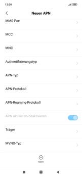 Xiaomi RedMi Note 7 - Internet und Datenroaming - Manuelle Konfiguration - Schritt 10