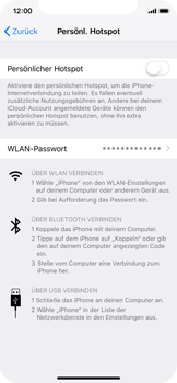Apple iPhone X - Internet - Mobilen WLAN-Hotspot einrichten - 7 / 9