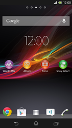 Sony Xperia Z - Internet und Datenroaming - Prüfen, ob Datenkonnektivität aktiviert ist - Schritt 1