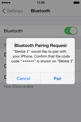 Apple iPhone 4S iOS 7 - Bluetooth - Connecting devices - Step 8