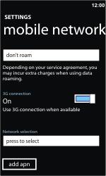 Nokia Lumia 710 - Network - Usage across the border - Step 8