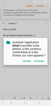 Samsung Galaxy J4+ - E-mails - Envoyer un e-mail - Étape 12