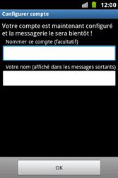 Samsung S7500 Galaxy Ace Plus - E-mail - Configurer l