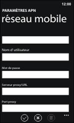 Nokia Lumia 800 / Lumia 900 - Internet et roaming de données - Configuration manuelle - Étape 11