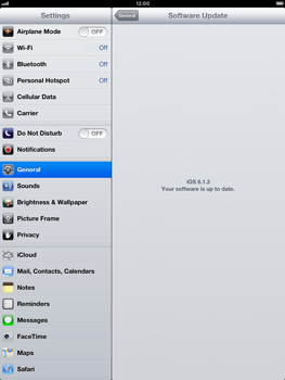 Apple iPad Retina - Software - Installing software updates - Step 8