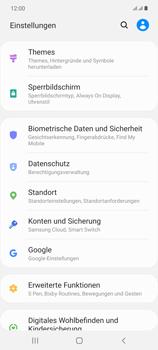 Samsung Galaxy Note 20 5G - Startanleitung - So aktivieren Sie eine SIM-PIN - Schritt 4