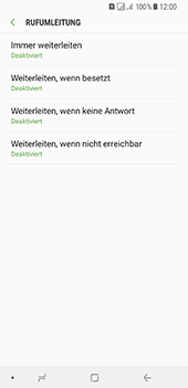 Samsung Galaxy A8 Plus (2018) - Anrufe - Rufumleitungen setzen und löschen - Schritt 9