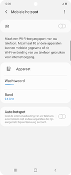Samsung Galaxy Z Flip Single-SIM + eSIM (SM-F700F) - WiFi - Mobiele hotspot instellen - Stap 7