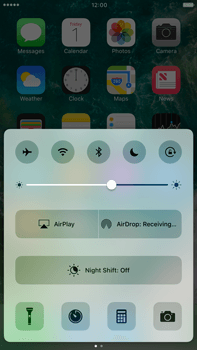 Apple Apple iPhone 6s Plus iOS 10 - iOS features - Control Centre - Step 10