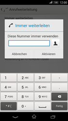 Sony E2003 Xperia E4G - Anrufe - Rufumleitungen setzen und löschen - Schritt 7