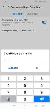 Huawei P Smart (2019) - Sécuriser votre mobile - Personnaliser le code PIN de votre carte SIM - Étape 13
