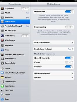 Apple iPad mini - Internet und Datenroaming - Deaktivieren von Datenroaming - Schritt 5