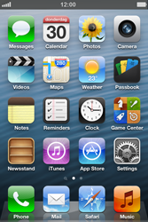 Apple iPhone 4S - Getting started - Personalising your Start screen - Step 1