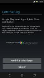 Sony Xperia Z - Apps - Einrichten des App Stores - Schritt 14