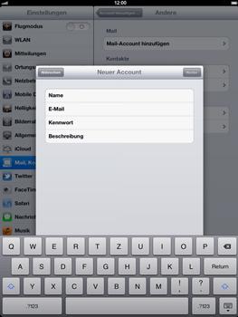 Apple iPad 3 - E-Mail - Konto einrichten - Schritt 7