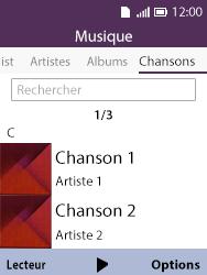 Alcatel 3088X - Photos, vidéos, musique - Ecouter de la musique - Étape 4