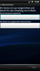 Sony Ericsson Xperia X10 - E-Mail - Konto einrichten - Schritt 15