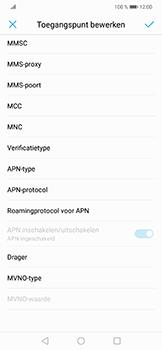 Huawei P Smart Plus - internet - handmatig instellen - stap 11