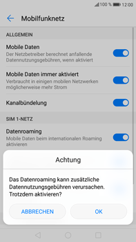 Huawei Mate 9 - Ausland - Im Ausland surfen – Datenroaming - 1 / 1