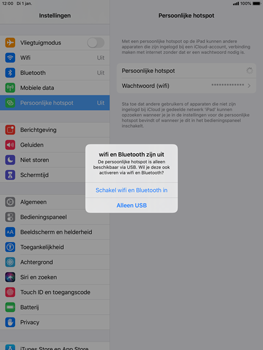 Apple ipad-air-2-met-ipados-13-model-a1567 - WiFi - Mobiele hotspot instellen - Stap 7