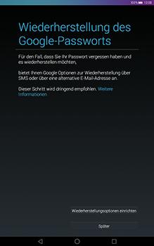 Huawei MediaPad T1 (10.0) LTE - Apps - Konto anlegen und einrichten - 0 / 0