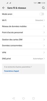Huawei Nova 5T - Internet et connexion - Désactiver la connexion Internet - Étape 4