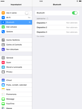 Apple iPad mini iOS 7 - Bluetooth - Collegamento dei dispositivi - Fase 7